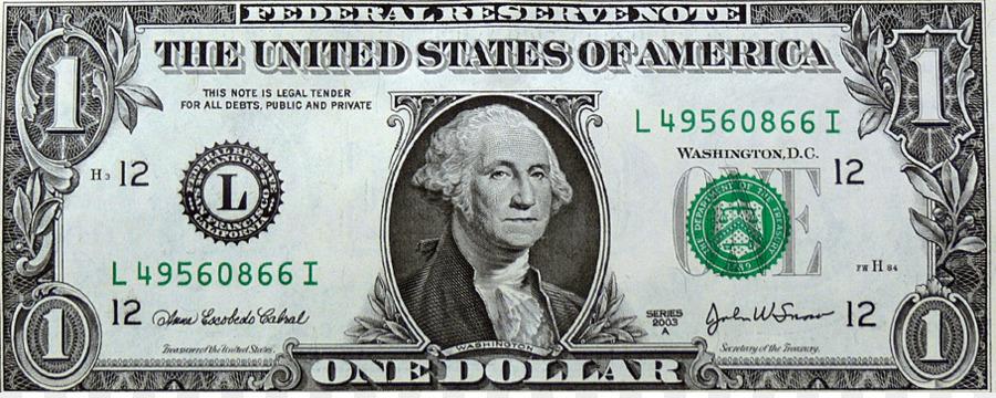 Bills clipart five dollar. United states one bill