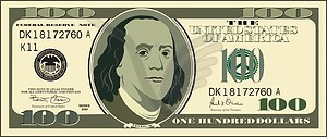 100 clipart bill.  dollar