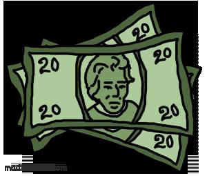 Free dollar bill cliparts. Bills clipart clip art