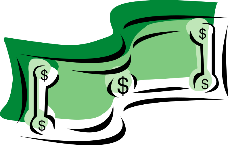 Bill clipart animated. Money clip art animation