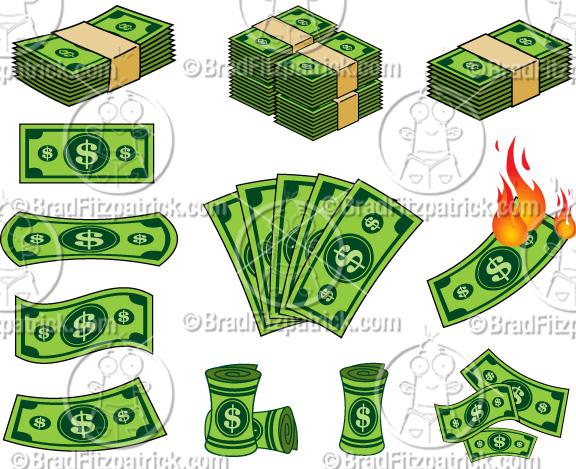 Cartoon dollar clip art. Bill clipart animated