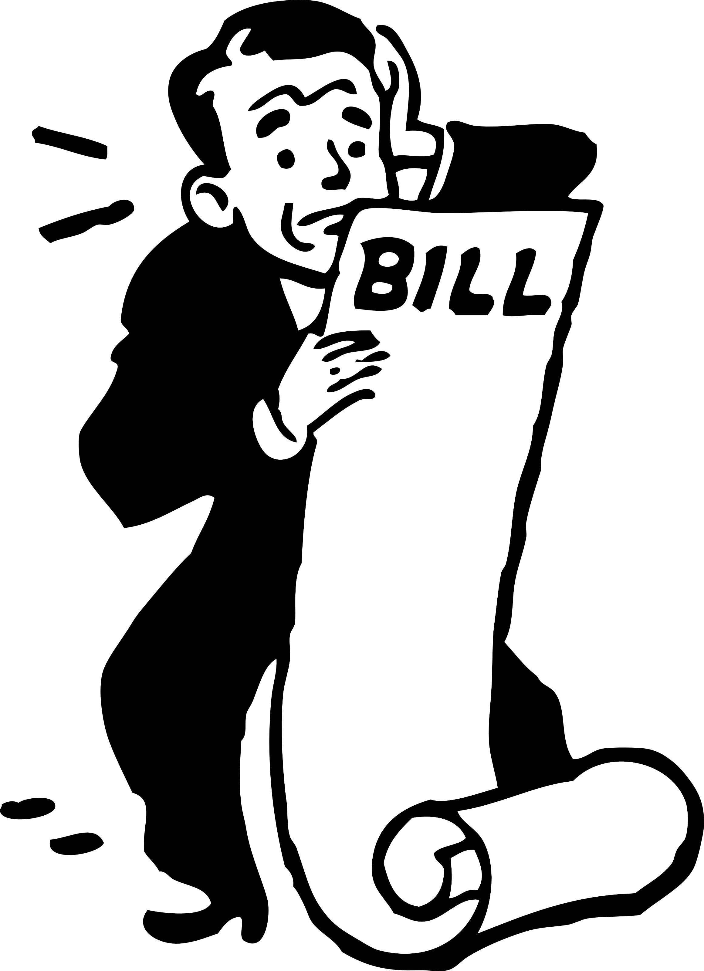 Clip art statement . Bill clipart animated