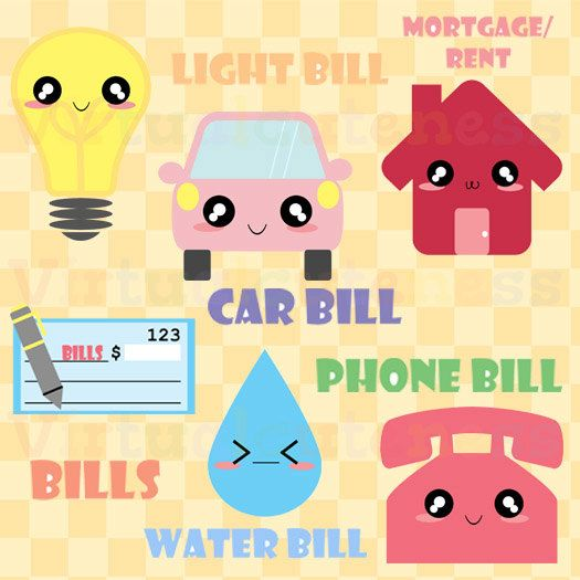 Bill clipart bill payment. Monthly bills mortgage phone