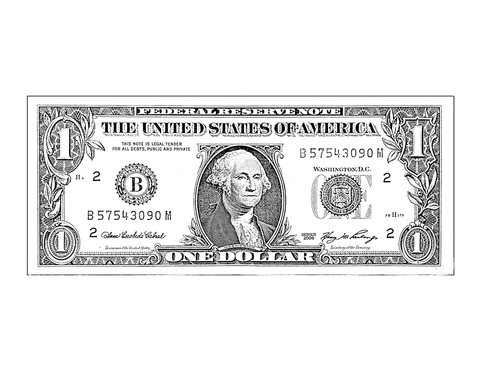 Black and white letters. Bills clipart dollar bill