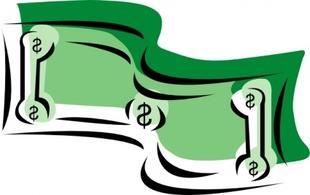 Dollar bill money panda. Bills clipart clip art