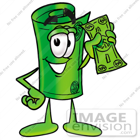 Dollar graphic of a. Bill clipart clip art