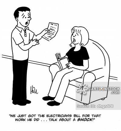 Pay cartoons and comics. Bills clipart electric bill