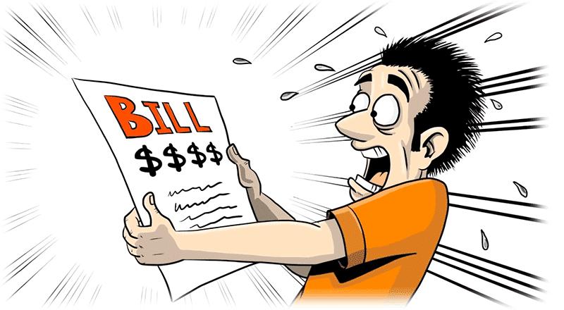 High system error or. Bills clipart electricity bill