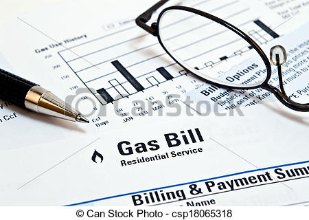Bill clipart gas bill.
