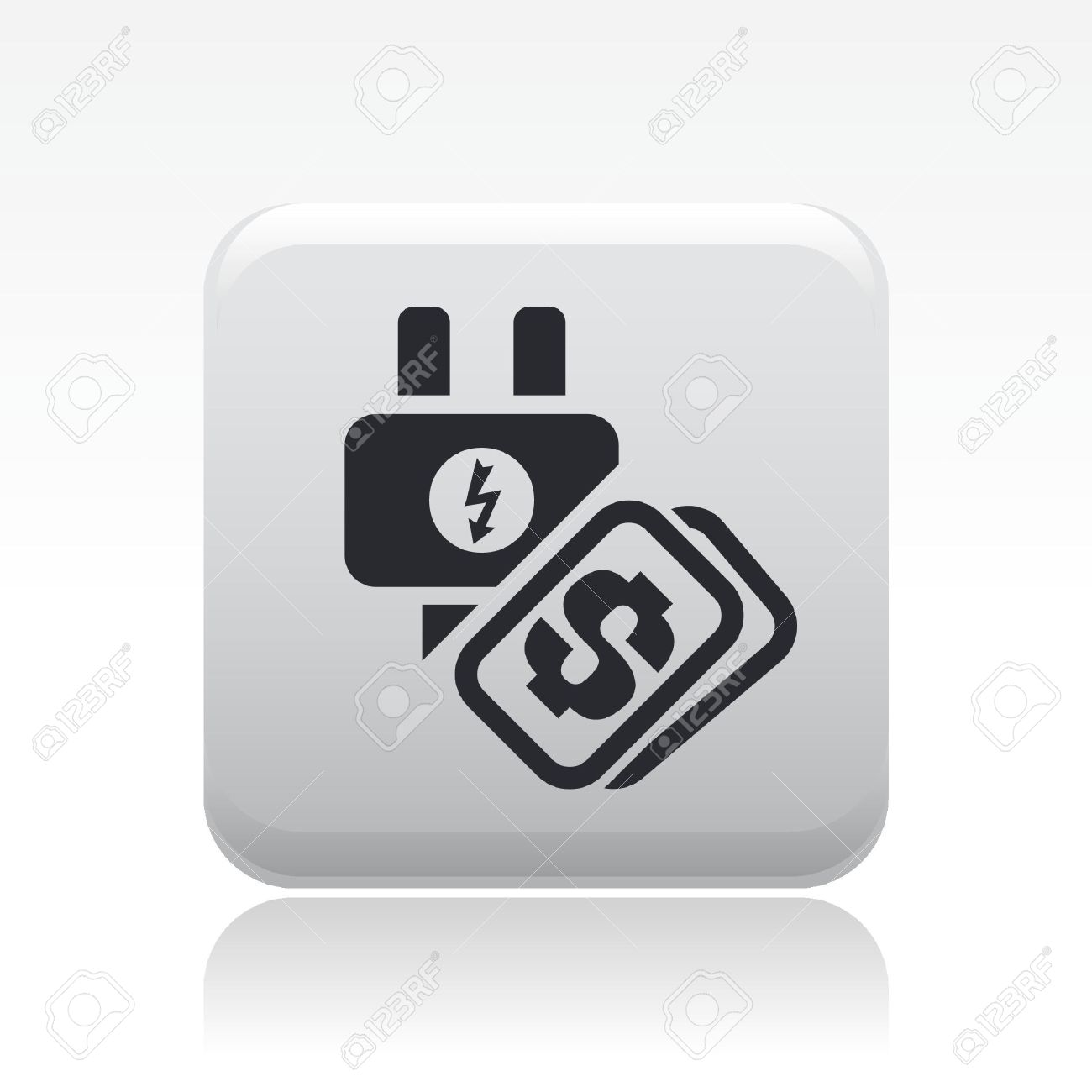 Energy icon . Bills clipart electricity bill