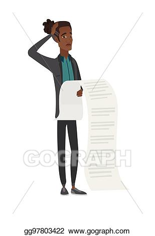 Vector stock young african. Bill clipart long