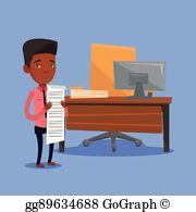 Bill clipart long. Vector stock young african