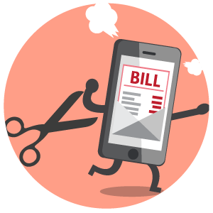 Bills clipart telephone bill. How we cut our