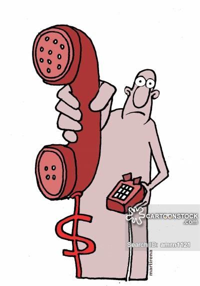 Land line cartoons and. Bills clipart telephone bill