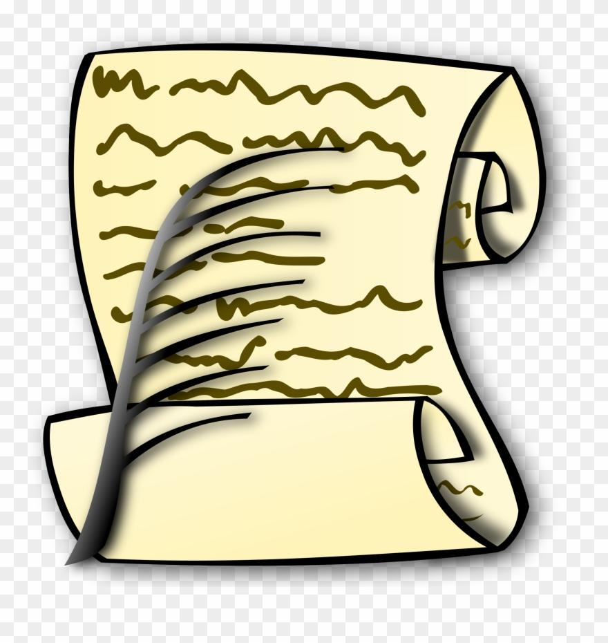 Scroll clip art download. Bills clipart transparent