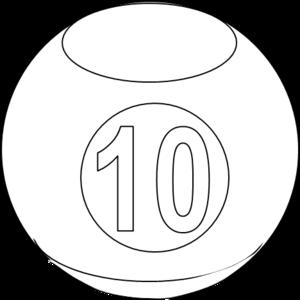 Billiards clipart 10 ball. Billiard bw free images