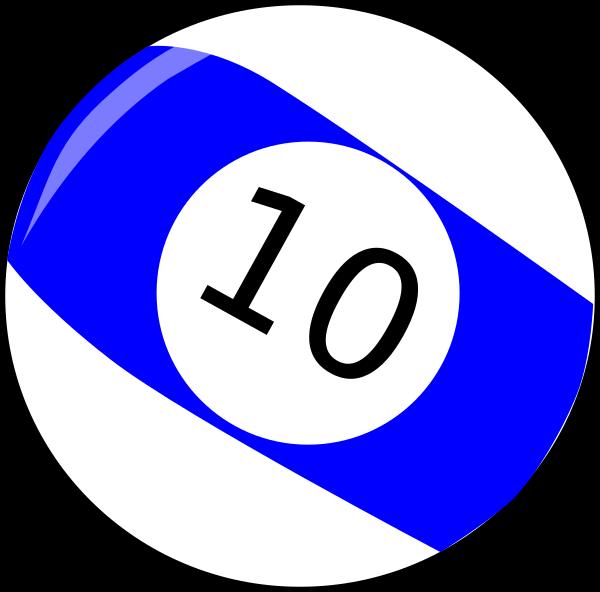Ten billiard clip art. Billiards clipart 10 ball