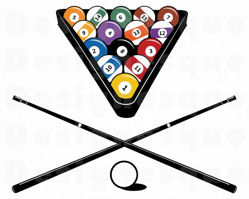 Billiards clipart. Svg snooker pool files