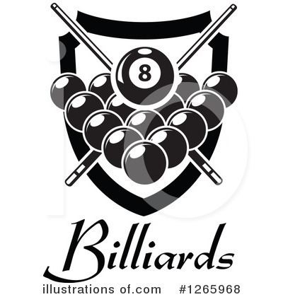 Billiards clipart. Illustration by vector tradition
