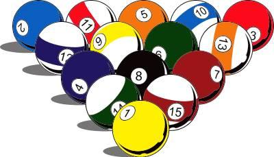Pool and billiard . Billiards clipart