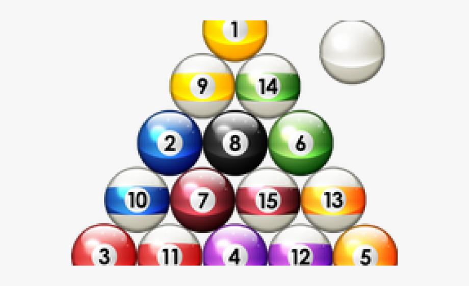 ball pool triangle. Billiards clipart billiards rack