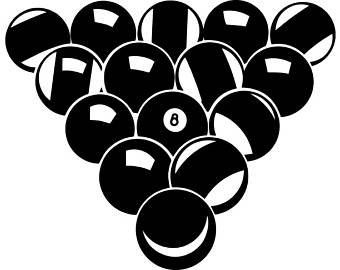 Billiards clipart black and white. Handmade pool svg etsy