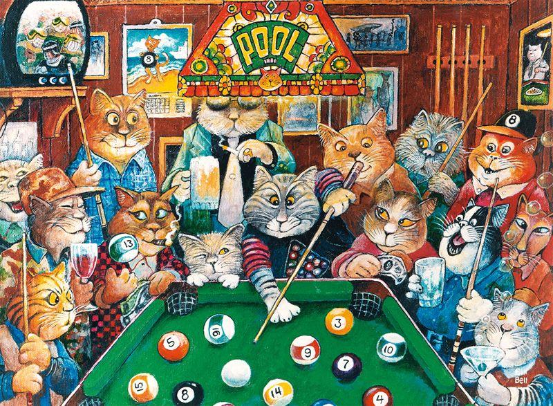 Cats puzzlewarehouse com . Billiards clipart pool hall