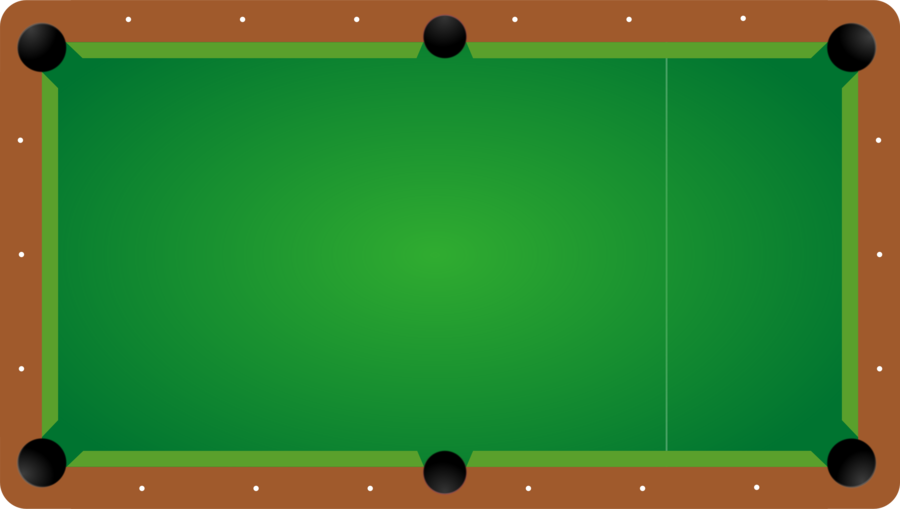 Green background . Billiards clipart pool table