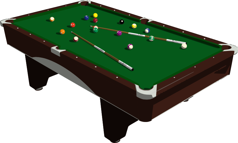 Clip art free to. Billiards clipart pool table