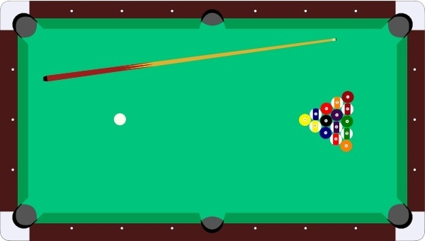 Cue free vector download. Billiards clipart snooker