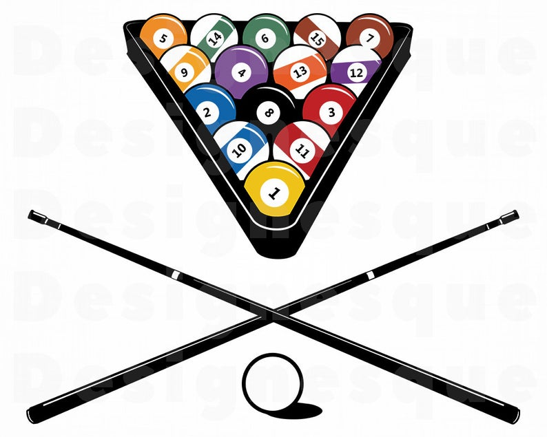 Svg pool files for. Billiards clipart snooker