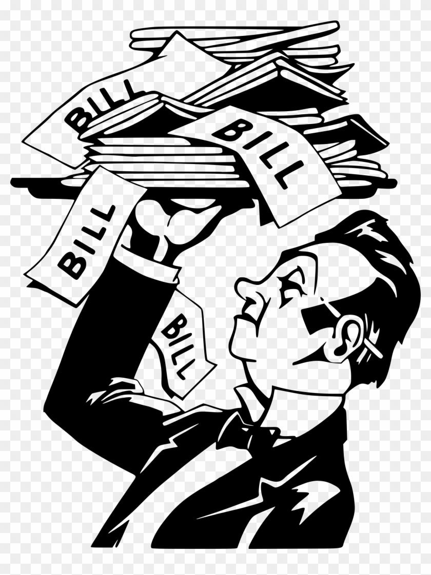 The bill is served. Bills clipart