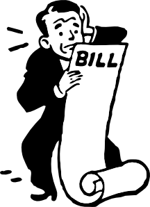 Bills clipart. Worried about a bill