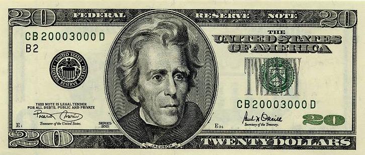 Bills 20 dollar