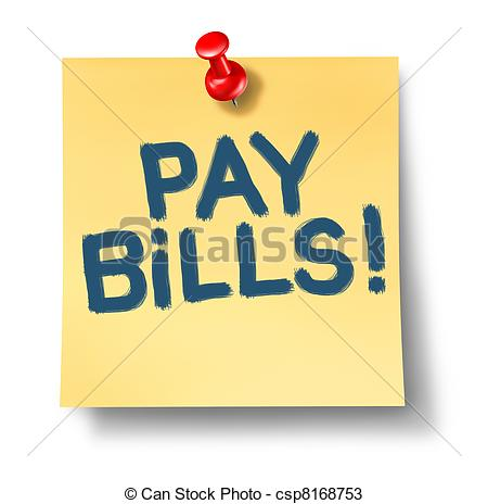 Paying . Bills clipart