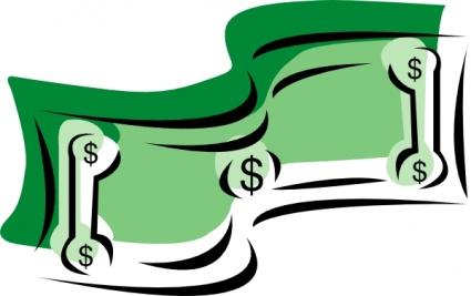 Cartoon dollar bill . Bills clipart animated
