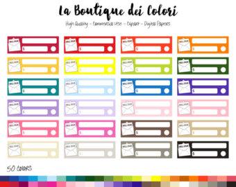 Etsy rainbow clip art. Bills clipart bill due