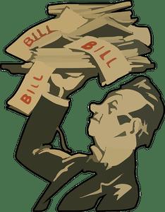 Bills clipart debt. Archives moneywatch what is