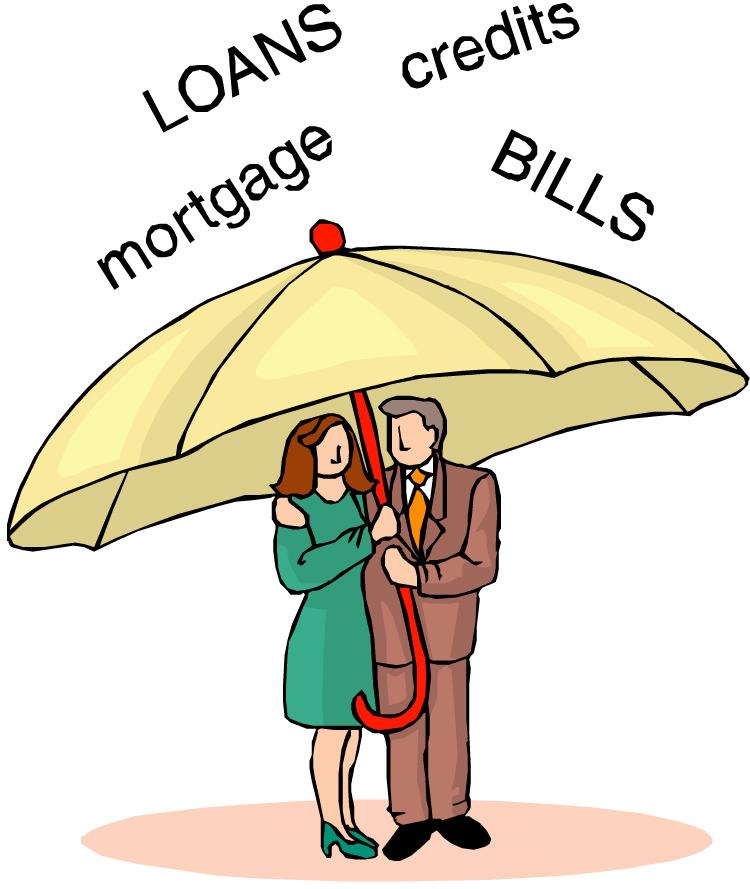 Diy consolidation . Bills clipart debt