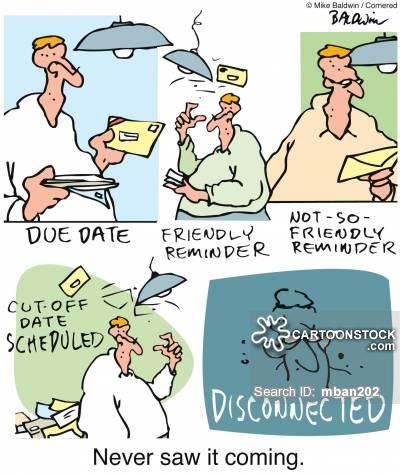 Bills clipart electric bill. Cartoons and comics funny