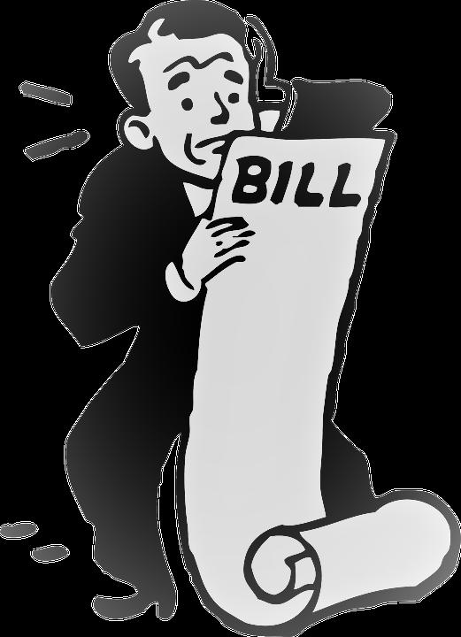 High blue crest electric. Bills clipart electricity bill