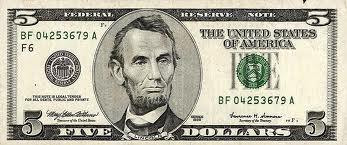 Bill . Bills clipart five dollar