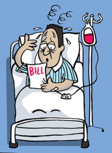 Paying your medical after. Bills clipart hospital bill