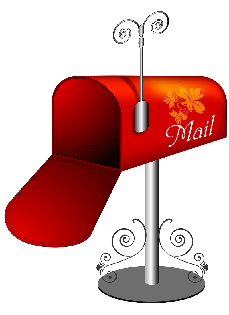 Mail boxes locking security. Bills clipart mailbox
