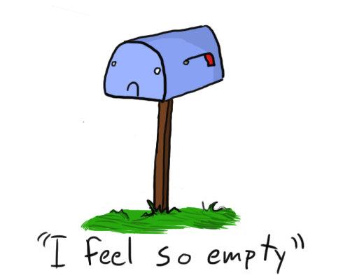 Bills clipart mailbox.  and more sad