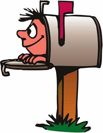 Mailbox clipart. Clip art cartoon envelopes