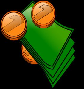 Bills clipart transparent. Money coins and clip