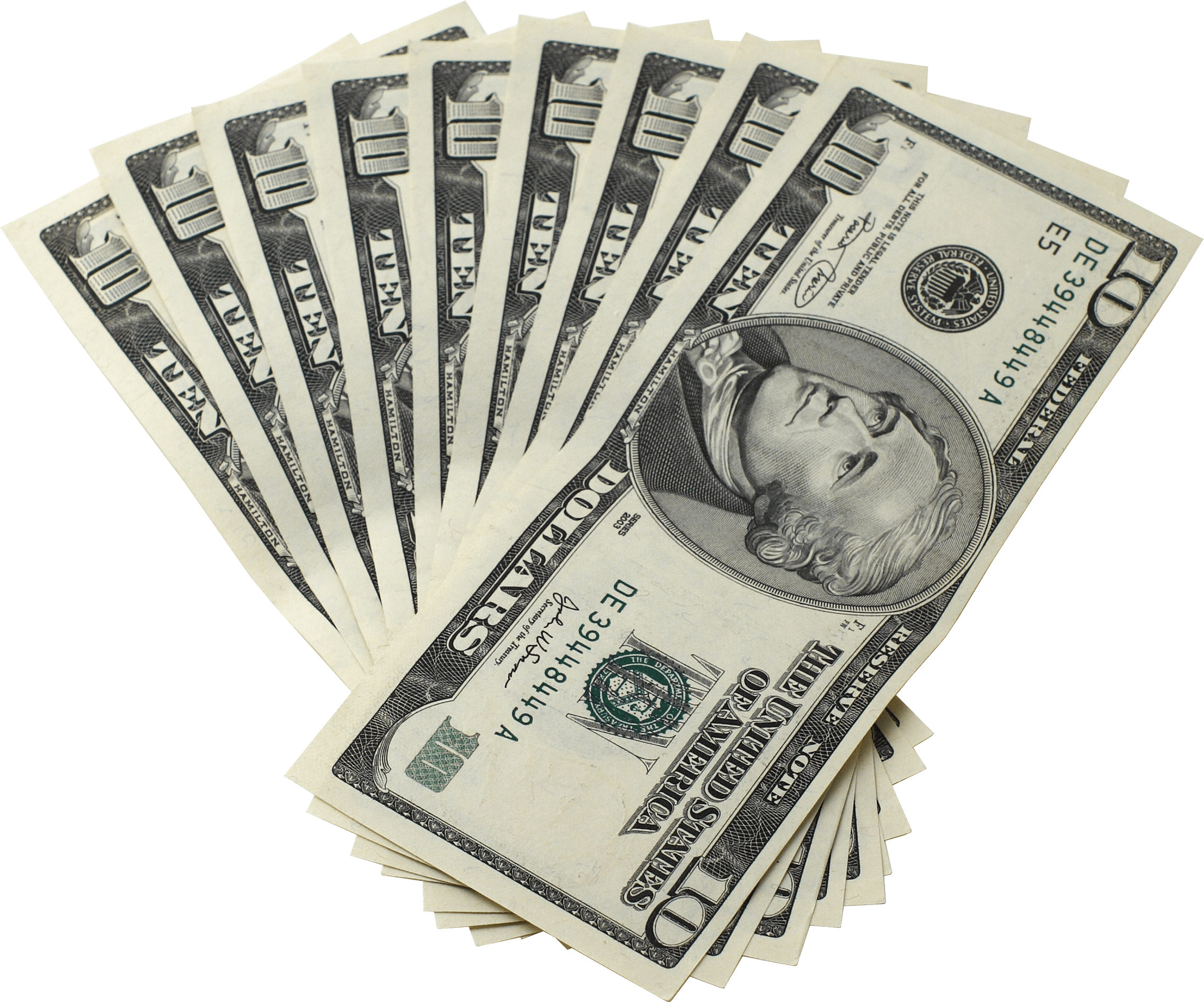 Transparent images stickpng dollar. Pile of money png