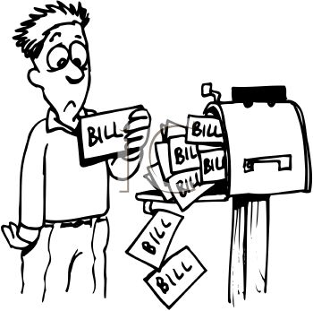 Bills clipart. Staggering clip art for