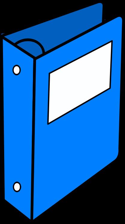Blue medium image png. Binder clipart